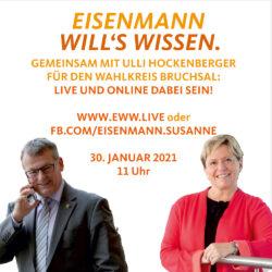 """""""Eisenmann will's wissen"""" im Wahlkreis Bruchsal"""